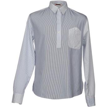 《セール開催中》BARENA メンズ シャツ ダークブルー 50 コットン 100%