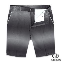 GIBBON 漸變波點彈性休閒短褲‧黑白