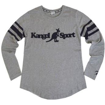長袖Tシャツ KANGOL SPORT(カンゴールスポーツ) 胸ロゴ カットソー fo-kgs00(グレー,m)