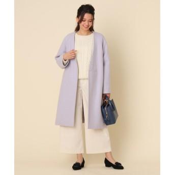 Couture Brooch(クチュールブローチ) 【WEB限定プライス】メルトンVノーカラーコート