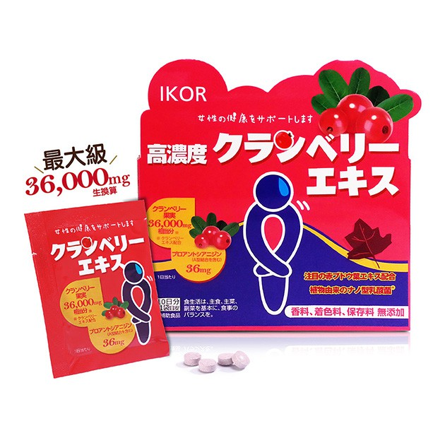 IKOR醫珂 私舒蔓蔓越莓益生菌(10袋/盒) 私密處保養 專利蔓越莓 高濃度300:1 紅葡萄葉 MC保養 更年護理