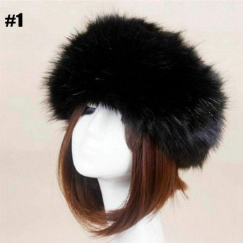 ファッション/レディース/小物/帽子/Winter Ski Hats Outdoor Women Russian Cap Thick Fluffy Headband Hat Faux Fur