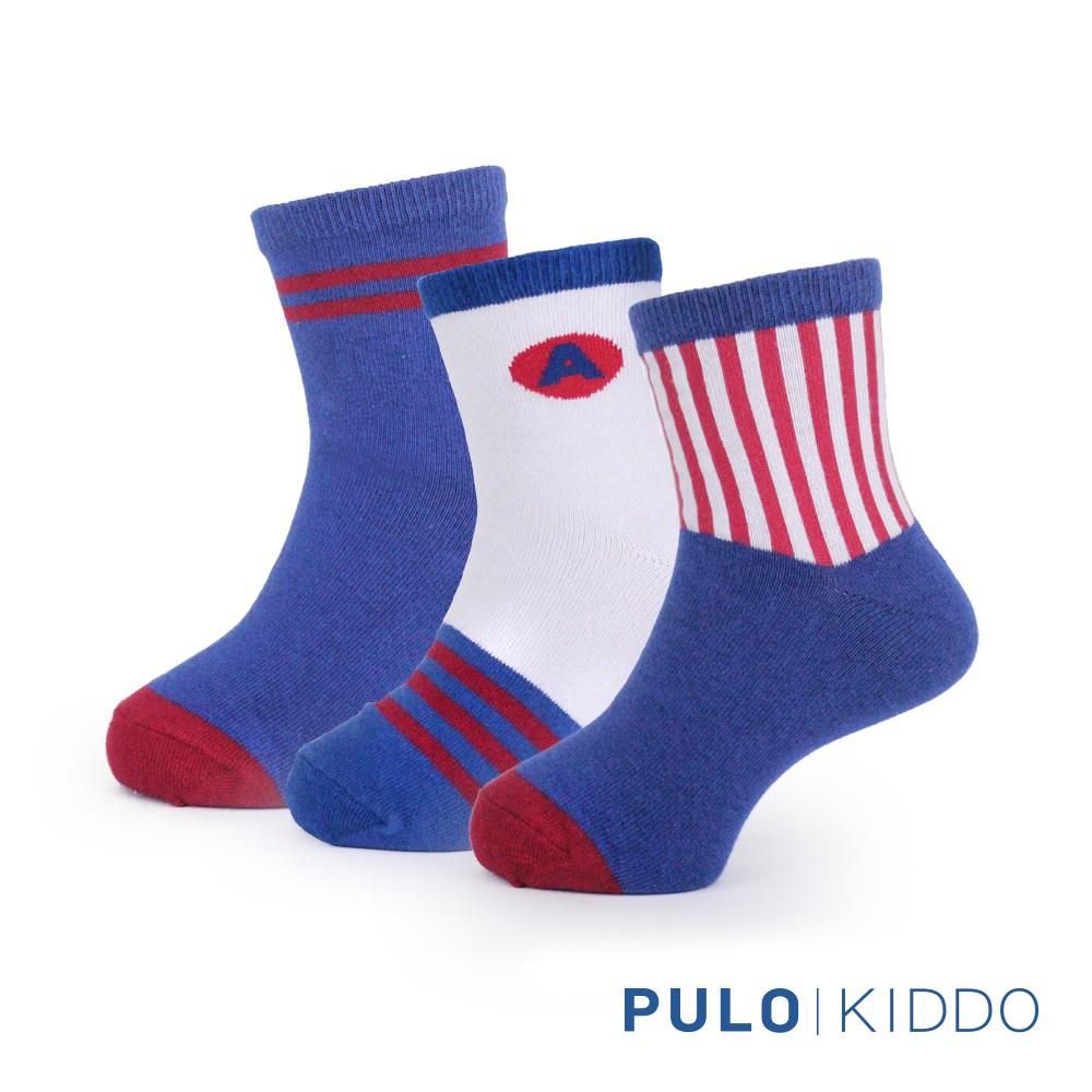 PULO-小小超人抗菌襪-3雙入-Kid-2XL