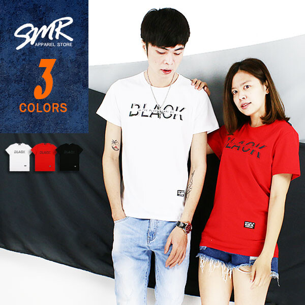 smr彩色鋼印black短t004cd526-共3色