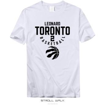 NBA Toronto Raptors 2番 Leonard レオナルド バスケットボール メンズ レディース 夏服 スポーツ 半袖 おしゃれ Tシャツ