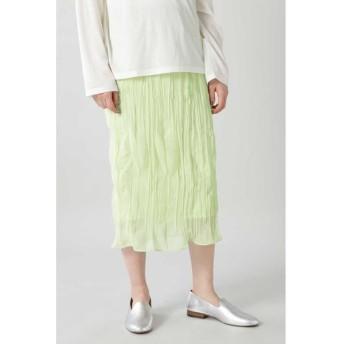 ROSE BUD/ローズ バッド ランダムギャザースカート ライトグリーン -