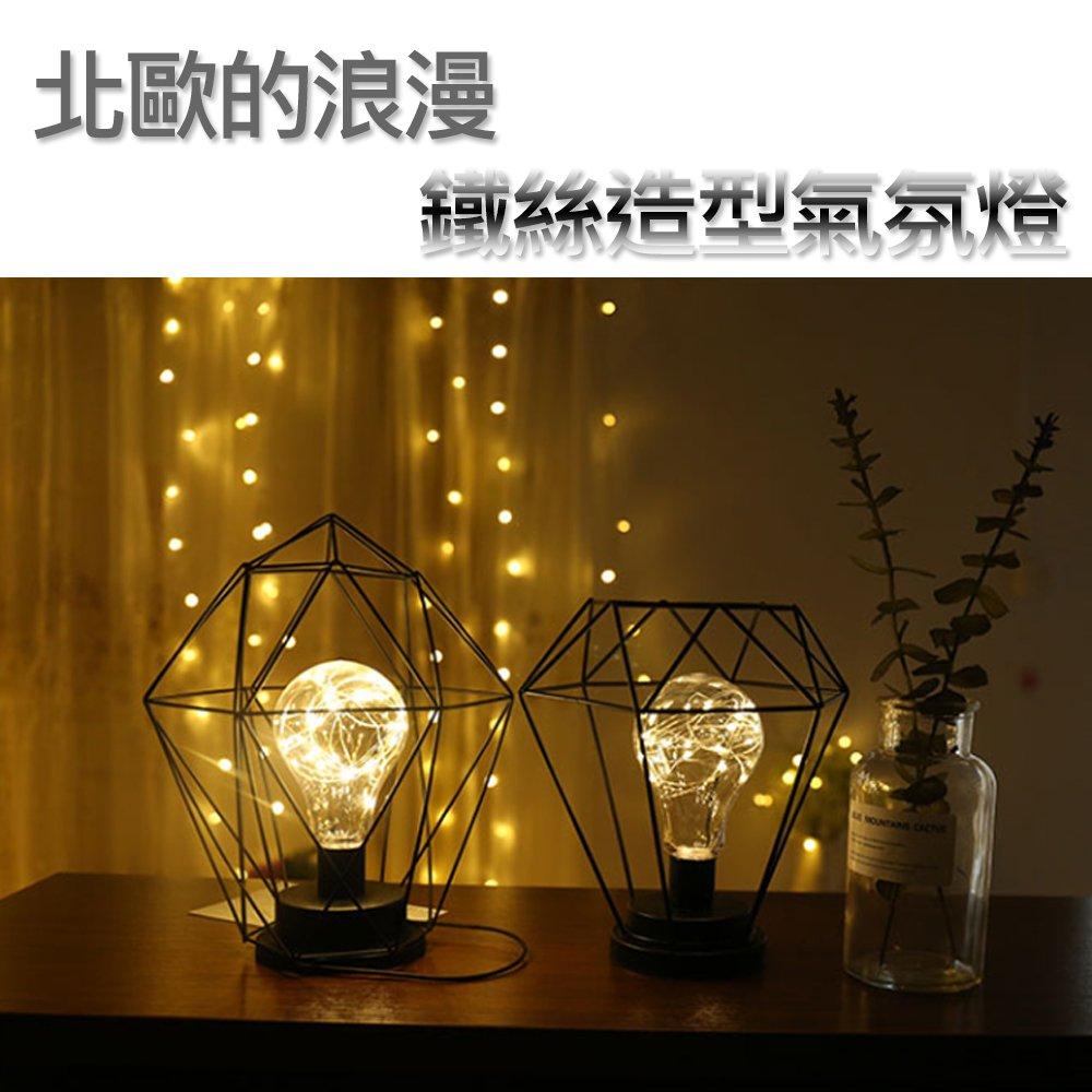 造型鐵絲燈 1.5米開關電源線 USB插電款