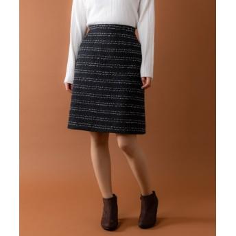 (Rewde/ルゥデ)ツイードタイトスカート(9R10-111002)/レディース ブラック