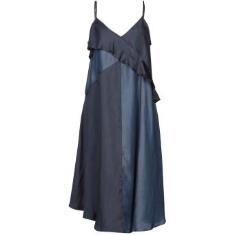 《セール開催中》CLU レディース 7分丈ワンピース・ドレス ブルー XS 指定外繊維(テンセル) 100% / ポリエステル