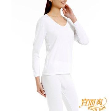 【宜而爽】舒適女厚棉衛生衣 白