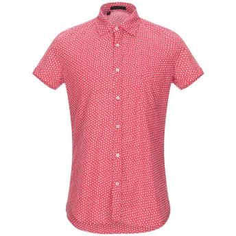 《セール開催中》ALESSANDRO DELL'ACQUA メンズ シャツ レッド 39 コットン 100%