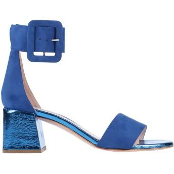 《セール開催中》LORENZO MARI レディース サンダル ブルー 39 紡績繊維