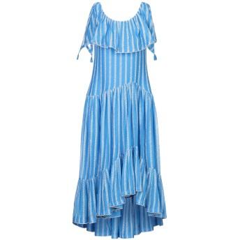 《セール開催中》TORY BURCH レディース ロングワンピース&ドレス アジュールブルー 4 コットン 70% / シルク 30% / ポリエステル