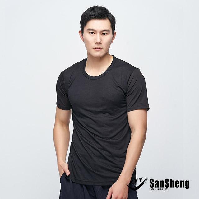【SanSheng三勝】MIT透心涼感網眼衣-黑3V-393