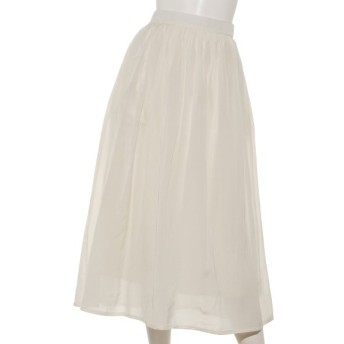 50%OFF le. coeur blanc (ルクールブラン) ギャザーロングスカート オフ
