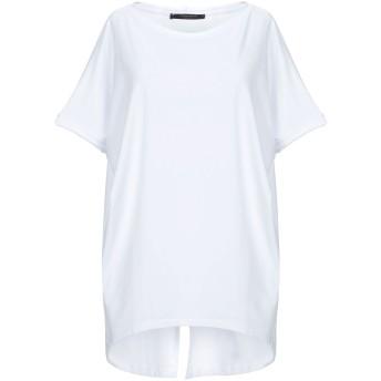 《セール開催中》MESSAGERIE レディース T シャツ ホワイト M コットン 96% / ポリウレタン 4%