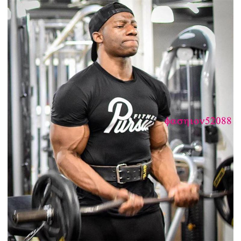歐美新款熱賣 肌肉健身速干純棉T恤 跑步吸汗透氣短袖Y