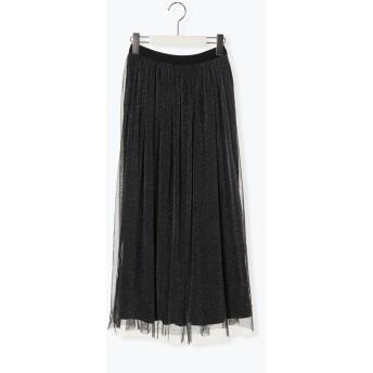 【6,000円(税込)以上のお買物で全国送料無料。】チュール×ワッシャーリバーシブルスカート