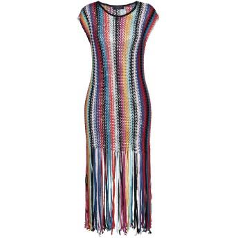 《セール開催中》TRUSSARDI JEANS レディース ロングワンピース&ドレス ブルー 40 コットン 100%