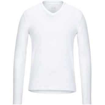 《セール開催中》MAJESTIC FILATURES メンズ T シャツ ホワイト M コットン 100%