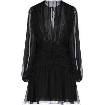 《セール開催中》SAINT LAURENT レディース ミニワンピース&ドレス ブラック 36 シルク 100%