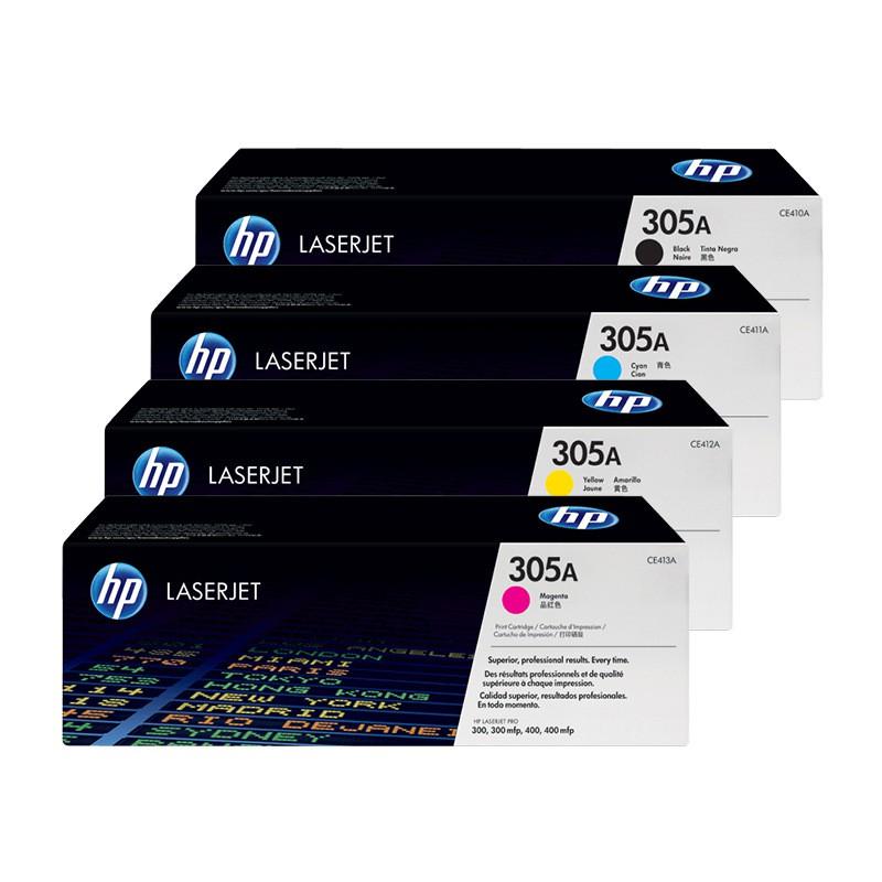 HP 305A 一組四色 CE410A+CE411A+CE412A+CE413A 原廠碳粉匣 贈100元禮券【優惠價】
