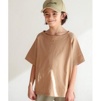 (pairmanon/ペアマノン)リネンタッチ ユニセックス ラグラン 袖切り替え 半袖 Tシャツ カットソー/ ベージュ
