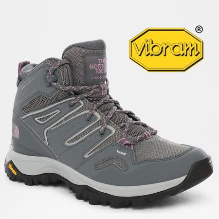 【美國 The North Face】女新款 HEDGEHOG FASTPACK 中筒輕量多功能防水登山鞋_46AR-ND9 鋅灰/淡紫色 N