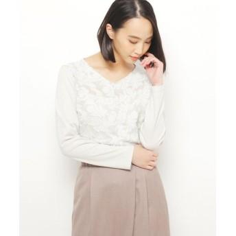 esche/エッシュ ボタニカル刺繍プルオーバー カーキ&グリーン(420) 42(L/ミセス)