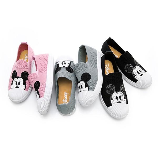 DISNEY 水鑽米奇 飛織布懶人鞋-3色(DW5180)