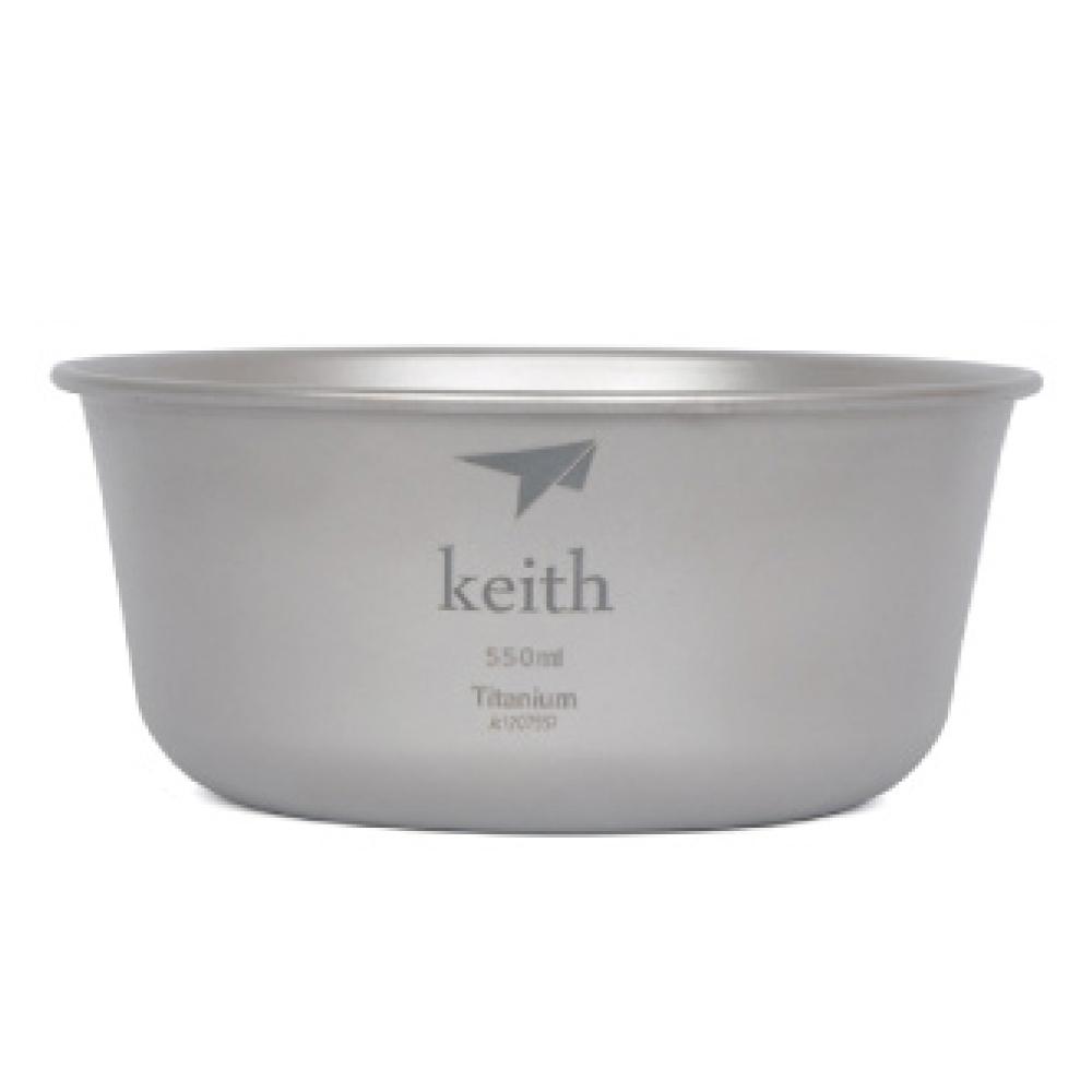 鎧斯Keith KT321純鈦輕量環保湯碗附收納袋