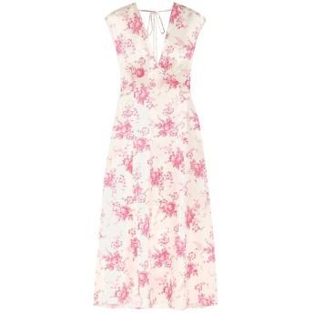 《セール開催中》LES RVERIES レディース 7分丈ワンピース・ドレス ホワイト 6 シルク 100%