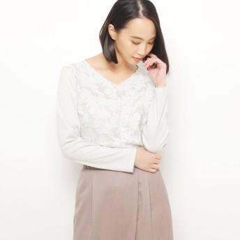 エッシュ esche ボタニカル刺繍プルオーバー (カーキ&グリーン)