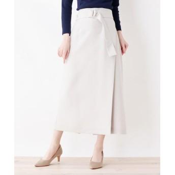 Eprouve(エプローブ) ラップ風ベルテッドスカート