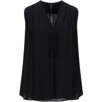 《セール開催中》PLEIN SUD レディース T シャツ ブラック 36 レーヨン 100%