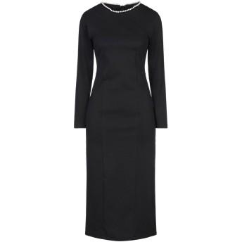 《セール開催中》PAPERLACE London レディース 7分丈ワンピース・ドレス ブラック 10 ポリエステル 95% / ポリウレタン 5%