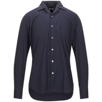《セール開催中》BAGUTTA メンズ シャツ ダークブルー 40 コットン 100%