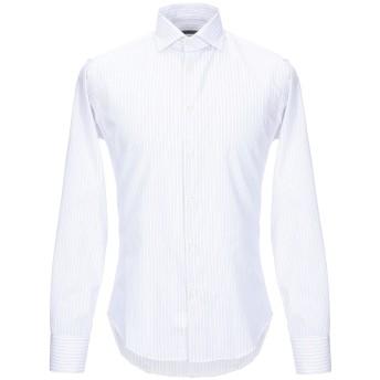 《セール開催中》TRU TRUSSARDI メンズ シャツ ホワイト 39 コットン 100%
