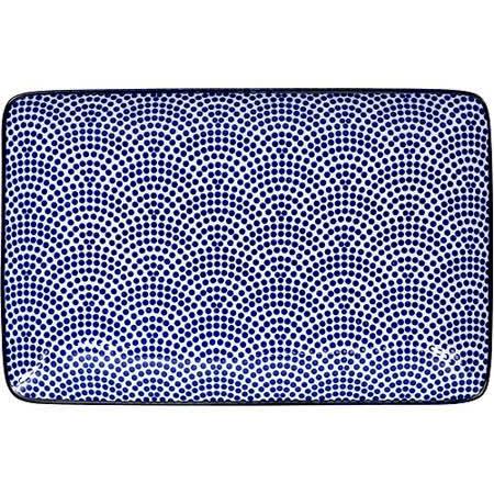 《Tokyo Design》瓷製長方餐盤(扇點藍20.5cm)