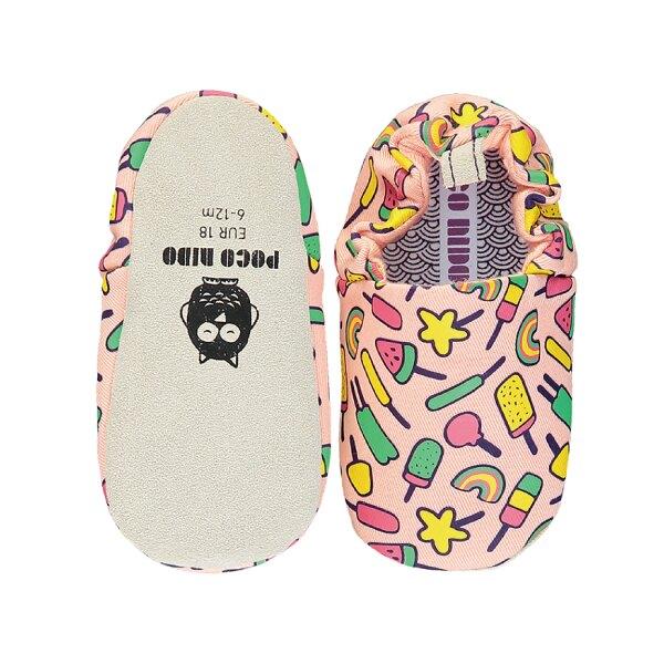 英國POCONIDO 手工鞋|嬰兒鞋|學步鞋-蜜桃棒棒糖 (6~24M)