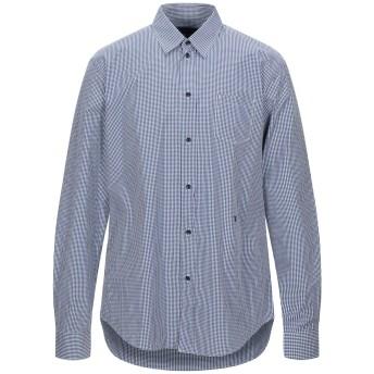 《セール開催中》TRU TRUSSARDI メンズ シャツ ダークブルー 42 コットン 100%