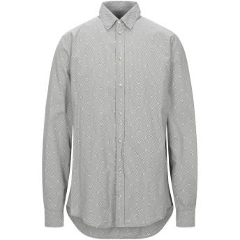 《セール開催中》TRU TRUSSARDI メンズ シャツ グレー 43 コットン 100%