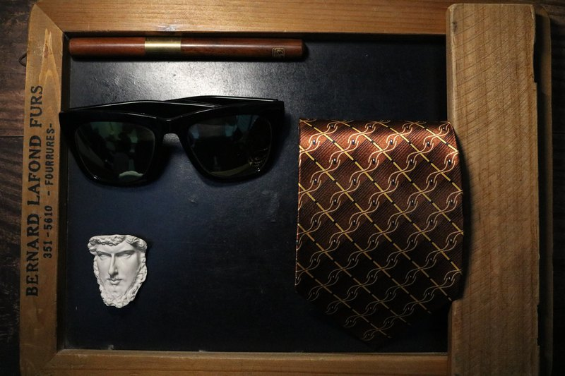 复古金色龙麟链领带绅士魅力男士领带