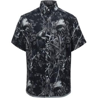 《セール開催中》LANVIN メンズ シャツ スチールグレー 40 レーヨン 100%