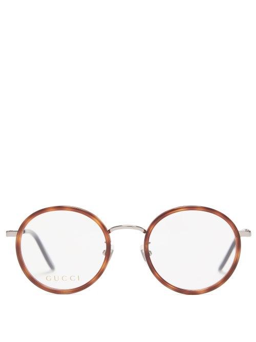 Gucci - Round Tortoiseshell-acetate Glasses - Mens - Clear