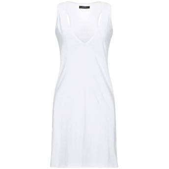 《セール開催中》ALPHA MASSIMO REBECCHI レディース ミニワンピース&ドレス ホワイト 44 コットン 100%