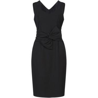 《セール開催中》MY SECRET BLACK DRESS レディース ひざ丈ワンピース ブラック 44 ポリエステル 95% / ポリウレタン 5%