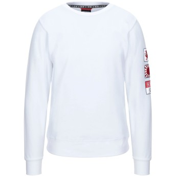 《セール開催中》KEJO メンズ スウェットシャツ ホワイト S コットン 100%