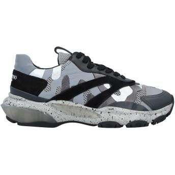《セール開催中》VALENTINO GARAVANI メンズ スニーカー&テニスシューズ(ローカット) 鉛色 42 紡績繊維 / 革