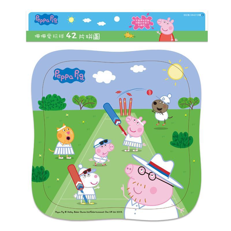 PeppaPig粉紅豬小妹:佩佩愛玩球(42片拼圖)[88折]11100891054